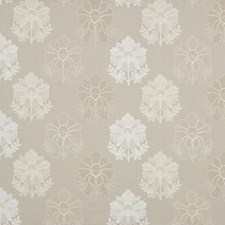 Ivory/Linen Embroidery Decorator Fabric by G P & J Baker