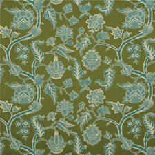Moss/Teal Weave Decorator Fabric by G P & J Baker