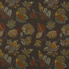 Amber/Bronze Embroidery Decorator Fabric by G P & J Baker