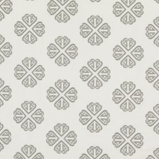 Soft Grey Embroidery Decorator Fabric by G P & J Baker