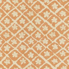 Pumpkin/Natural Botanical Decorator Fabric by Lee Jofa
