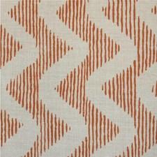 Coral/Natrl Print Decorator Fabric by Lee Jofa