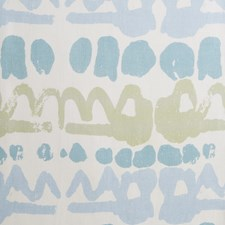 Lime/Blue Modern Decorator Fabric by Lee Jofa
