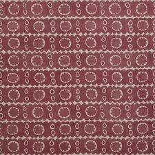 Red Print Decorator Fabric by Lee Jofa