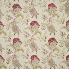 Rose/Green Botanical Decorator Fabric by Lee Jofa