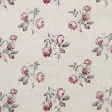 Aqua/Pink Print Decorator Fabric by Lee Jofa