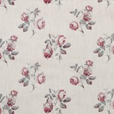 Aqua/Pink Botanical Decorator Fabric by Lee Jofa