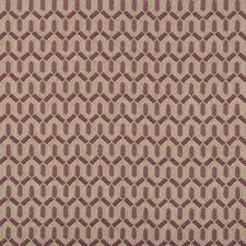 Aubergine Geometric Decorator Fabric by Lee Jofa