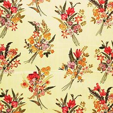 Yellow/Multi Botanical Decorator Fabric by Kravet