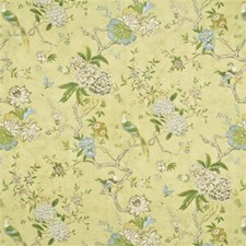 Celery Print Decorator Fabric by G P & J Baker