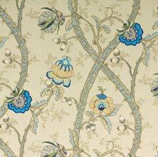 Mocha/Delft Print Decorator Fabric by G P & J Baker