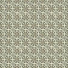 Onyx/Grey Geometric Decorator Fabric by G P & J Baker