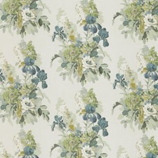 Soft Teal Animal Decorator Fabric by G P & J Baker