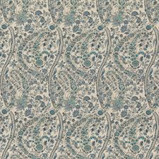 Blue Print Decorator Fabric by G P & J Baker