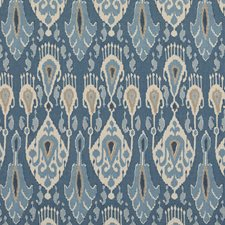 Blue Ethnic Decorator Fabric by G P & J Baker