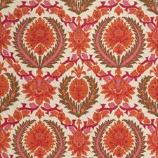 Orange Spice/Mocha Damask Decorator Fabric by Brunschwig & Fils