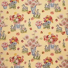 Cream Figurative Decorator Fabric by Brunschwig & Fils