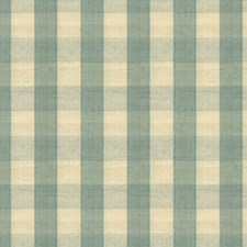 Pale Blue and Cream Check Decorator Fabric by Brunschwig & Fils