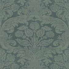 Oxford Blue Damask Decorator Fabric by Brunschwig & Fils