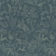 Rench Blue Botanical Decorator Fabric by Brunschwig & Fils