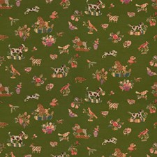 Patio Green Tapestry Decorator Fabric by Brunschwig & Fils
