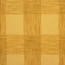 Soft Gold Check Decorator Fabric by Mulberry Home