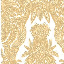 Bianco/Oro Decorator Fabric by Scalamandre