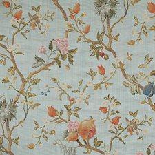 Multi On Sky Blue Decorator Fabric by Scalamandre