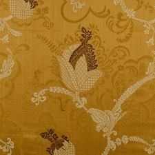 Brown/Linen On Sienna Decorator Fabric by Scalamandre