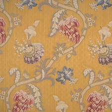 Multi On Gold Decorator Fabric by Scalamandre