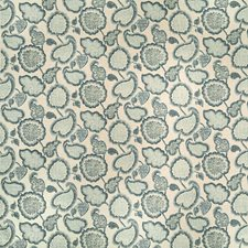 Neutral/Blue/Spa Botanical Decorator Fabric by Kravet