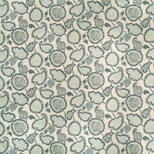 Neutral/Blue/Spa Botanical Decorator Fabric by Kravet