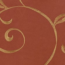 Rust Embroidery Decorator Fabric by Kasmir