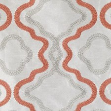 Coral Embroidery Decorator Fabric by Duralee