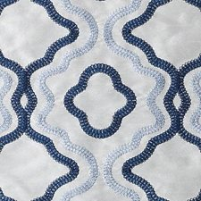 Lapis Embroidery Decorator Fabric by Duralee
