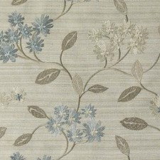 Aqua/Gold Embroidery Decorator Fabric by Duralee
