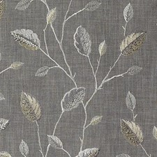 Silver Embroidery Decorator Fabric by Duralee