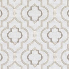 Parchment Embroidery Decorator Fabric by Duralee