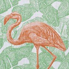 Pink/Green Birds Decorator Fabric by Duralee