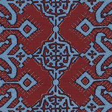 Red/Blue Ethnic Decorator Fabric by Duralee
