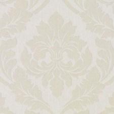 Creme Damask Decorator Fabric by Duralee