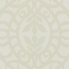 Ecru Damask Decorator Fabric by Duralee