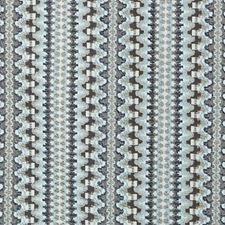 Blue Stripe w Decorator Fabric by Duralee