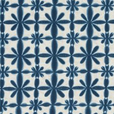 Navy Ethnic Decorator Fabric by Duralee