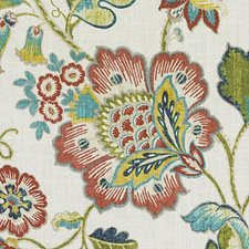 Spring Green Floral Large Decorator Fabric by Duralee