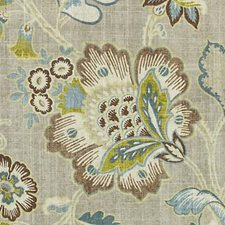 Nutmeg Floral Large Decorator Fabric by Duralee