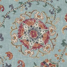 Azure Ethnic Decorator Fabric by Duralee