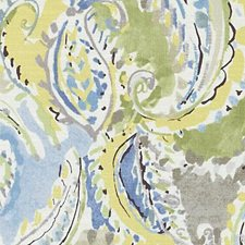 Blue/Yellow Paisley Decorator Fabric by Duralee
