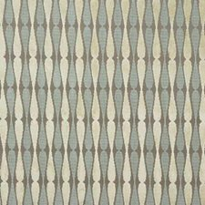 Taupe/Aqua Contemporary Decorator Fabric by Groundworks