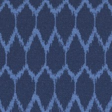 Blue Abstract Decorator Fabric by Duralee
